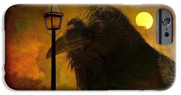 Birds iPhone Cases - Halloween is over iPhone Case by Susanne Van Hulst