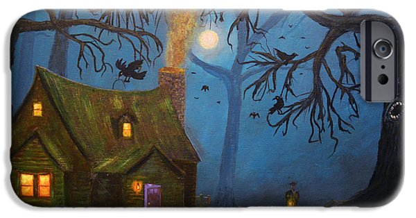 Fall iPhone Cases - Halloween Night iPhone Case by Ken Figurski