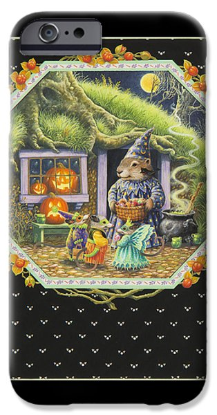 Groundhog iPhone Cases - Halloween Treats iPhone Case by Lynn Bywaters