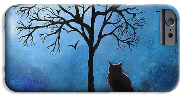 Concept Art Drawings iPhone Cases - Halloween whimsical artwork iPhone Case by Nirdesha Munasinghe