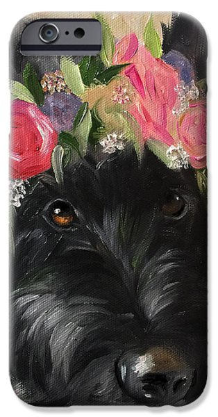 Recently Sold -  - Black Dog iPhone Cases - Halo iPhone Case by Mary Sparrow