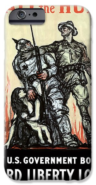 Wwi iPhone Cases - Halt The Hun iPhone Case by War Is Hell Store