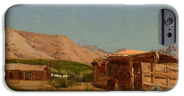 Mcentee Paintings iPhone Cases - Hamiltons Ranch Nevada  iPhone Case by Celestial Images
