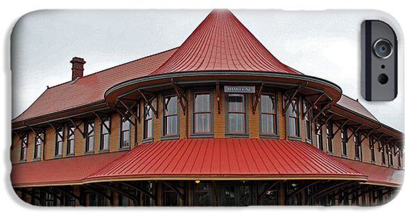 United iPhone Cases - Hamlet Train Station iPhone Case by Cynthia Guinn