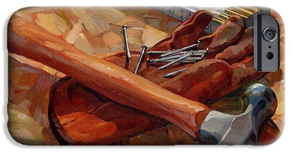 Hammer Paintings iPhone Cases - Hammer Composition iPhone Case by Joseph M Scott