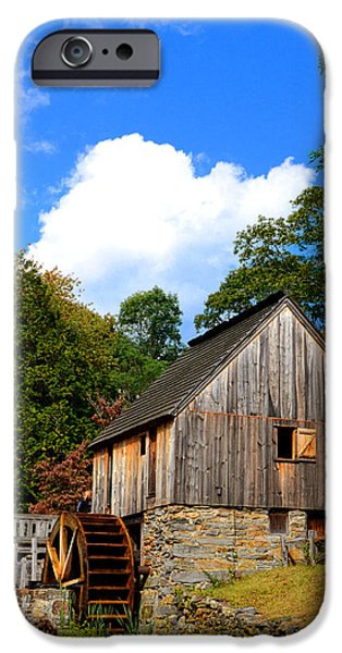 Grist Mill iPhone Cases - Hammond Gristmill Rhode Island iPhone Case by Lourry Legarde