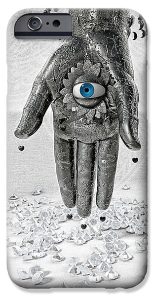 Horus iPhone Cases - Hamsa or Hamesh iPhone Case by Third Eye Guide Dog