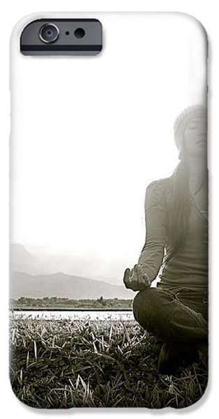 Hanalei Meditation iPhone Case by Kicka Witte - Printscapes