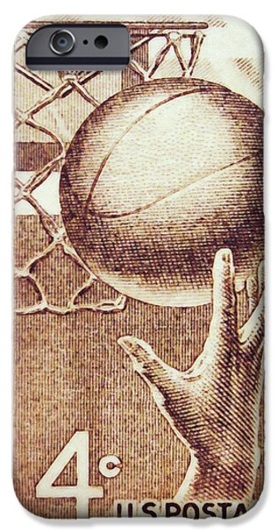 Dunk Paintings iPhone Cases - Hand and Ball iPhone Case by Lanjee Chee