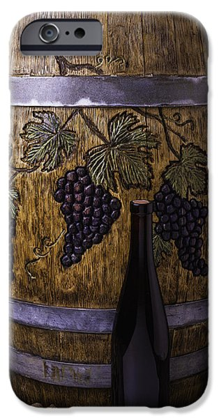 Industry iPhone Cases - Hand Carved Wine Barrel iPhone Case by Garry Gay