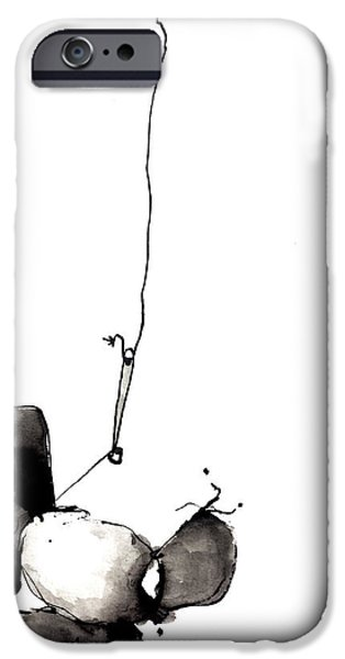 Abnormal iPhone Cases - Hanging By A Thread iPhone Case by Nick Watts