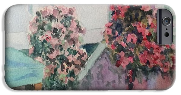 Overhang iPhone Cases - Hanging Flowers iPhone Case by Katherine  Berlin