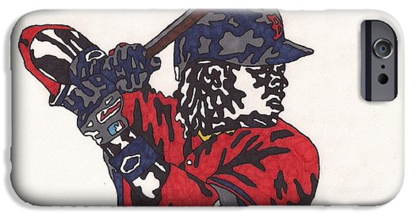 Red Sox Drawings iPhone Cases - Hanley Ramirez iPhone Case by Jeremiah Colley