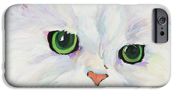 Paiting iPhone Cases - Hannah iPhone Case by Pat Saunders-White