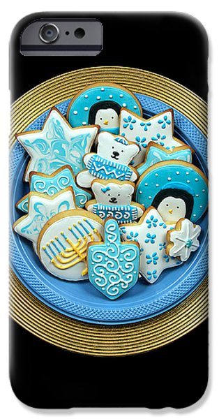 Chanukah iPhone Cases - Hannukah Cookies iPhone Case by Ron Regalado