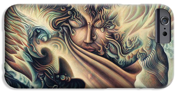 Liberation Paintings iPhone Cases - Hansa Swann iPhone Case by Nad Wolinska
