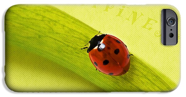 Macro Mixed Media iPhone Cases - Happiness iPhone Case by Angela Doelling AD DESIGN Photo and PhotoArt