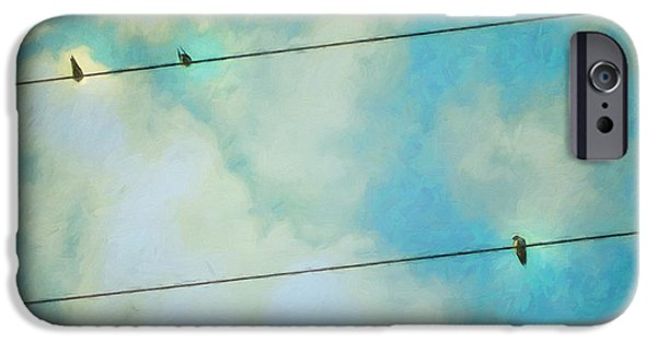 Swallow iPhone Cases - Happiness iPhone Case by Priska Wettstein