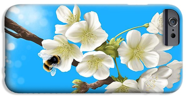 Bee iPhone Cases - Happy bee iPhone Case by Veronica Minozzi