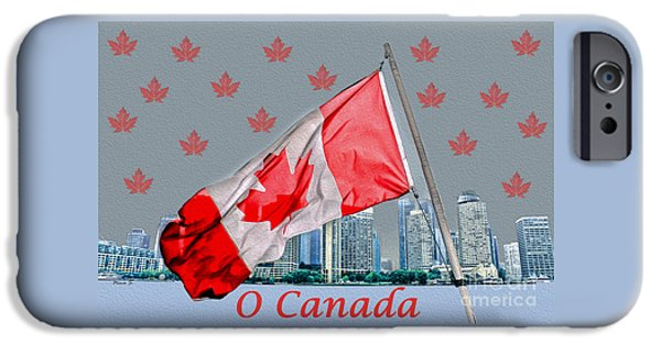 Nation iPhone Cases - Happy Canada Day iPhone Case by Nina Silver