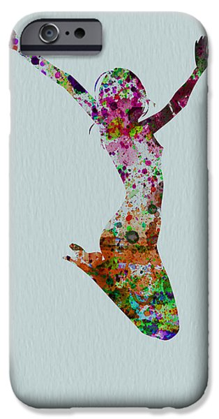 Relationship Paintings iPhone Cases - Happy dance iPhone Case by Naxart Studio