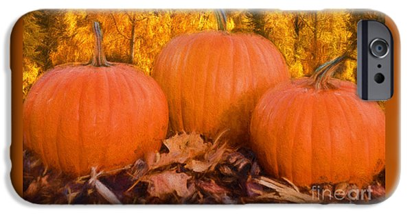 Fall iPhone Cases - Happy Fall iPhone Case by Carolyn Rauh