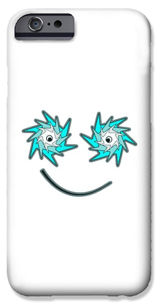 Play iPhone Cases - Happy Monster iPhone Case by Anastasiya Malakhova