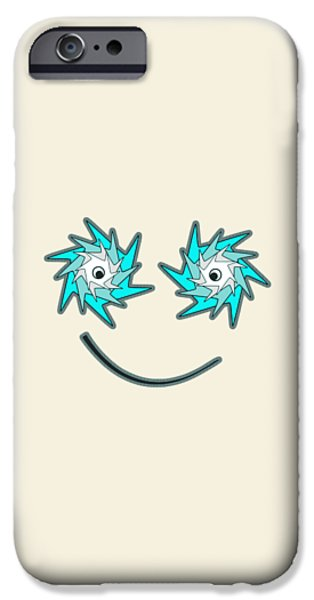 Looking iPhone Cases - Happy Monster iPhone Case by Anastasiya Malakhova