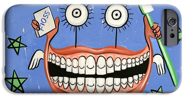 Digital Mixed Media iPhone Cases - Happy Teeth iPhone Case by Anthony Falbo
