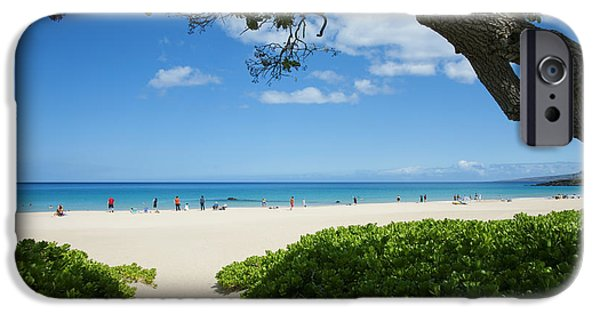 Overhang iPhone Cases - Hapuna Beach iPhone Case by Ron Dahlquist - Printscapes