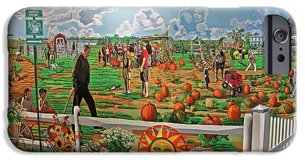 Table Wine iPhone Cases - Harbes Family Farm iPhone Case by Bonnie Siracusa