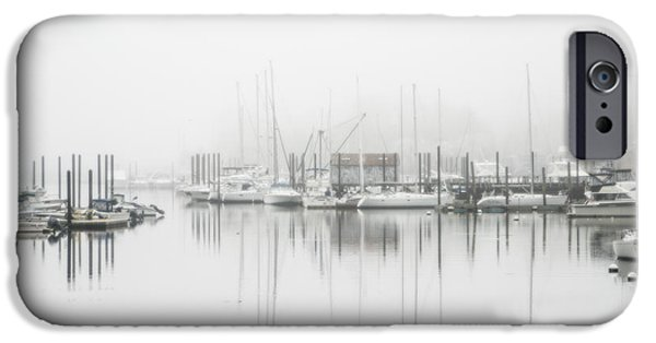 Sailboats iPhone Cases - Harbor Mist iPhone Case by June Marie Sobrito