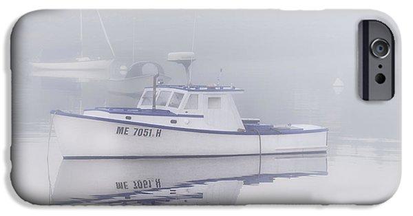 Mid-coast Maine iPhone Cases - Harbor Mist   iPhone Case by Thomas Schoeller
