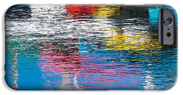 Boat iPhone Cases - Harbor Reflections I iPhone Case by Duane Miller