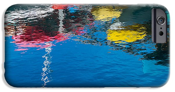 Boats iPhone Cases - Harbor Reflections II iPhone Case by Duane Miller