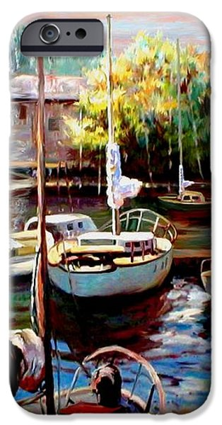 Harbor Sailboats at Rest iPhone Case by Ronald Chambers