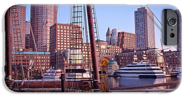 Windjammer iPhone Cases - Harbor Sunrise iPhone Case by Susan Cole Kelly