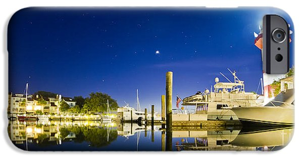 Basin iPhone Cases - Harbor Town Yacht Basin Light House Hilton Head South Carolina iPhone Case by Dustin K Ryan