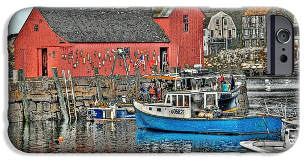 Village iPhone Cases - Harbor View in Rockport iPhone Case by Michael Ciskowski