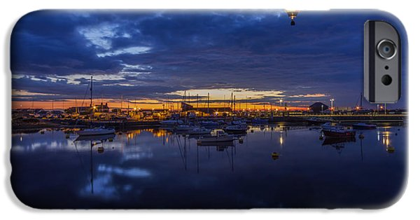 Boat iPhone Cases - Harbour Night Flight iPhone Case by Ian Mitchell