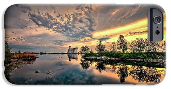 Beauty Mark iPhone Cases - Harbour view park iPhone Case by Jeff S PhotoArt