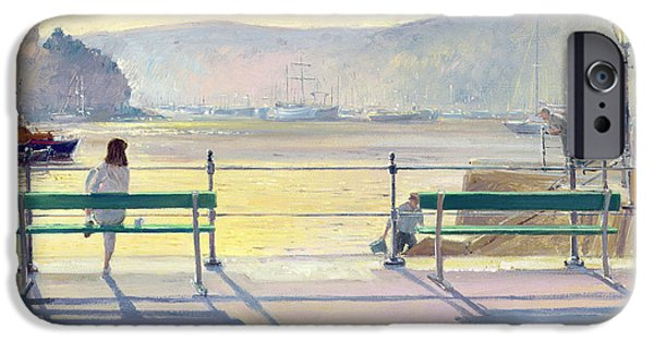 Boat iPhone Cases - Harbour View iPhone Case by Timothy Easton