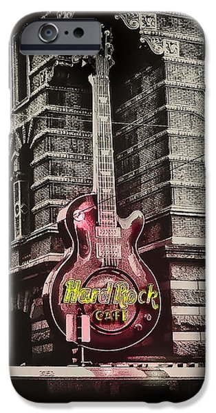 Hard Rock Philly iPhone Case by Bill Cannon