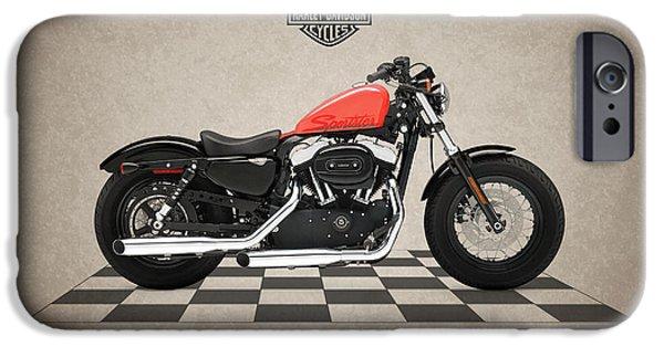 Harley Davidson Photographs iPhone Cases - Harley Davidson Forty-Eight iPhone Case by Mark Rogan