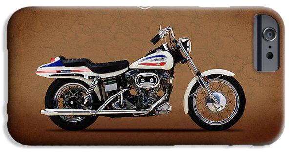 Glides iPhone Cases - Harley-Davidson Model FX Super Glide 1971 iPhone Case by Mark Rogan