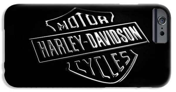 Phone iPhone Cases - Harley-Davidson Motorcycles Phone Case iPhone Case by Mark Rogan