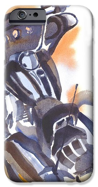 Mechanics Paintings iPhone Cases - Motorcycle IV iPhone Case by Kip DeVore