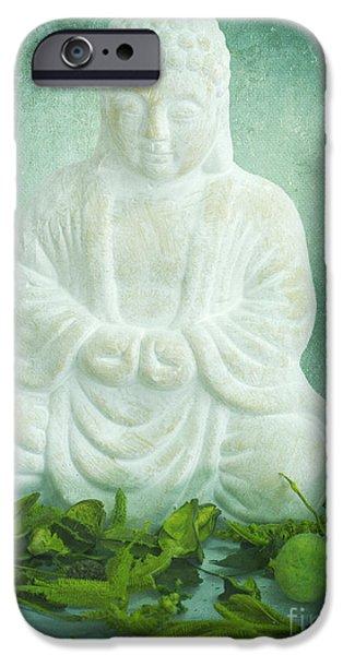 Buddha iPhone Cases - Harmony iPhone Case by Angela Doelling AD DESIGN Photo and PhotoArt