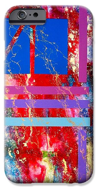 Business Paintings iPhone Cases - Harmony iPhone Case by Louise Adams