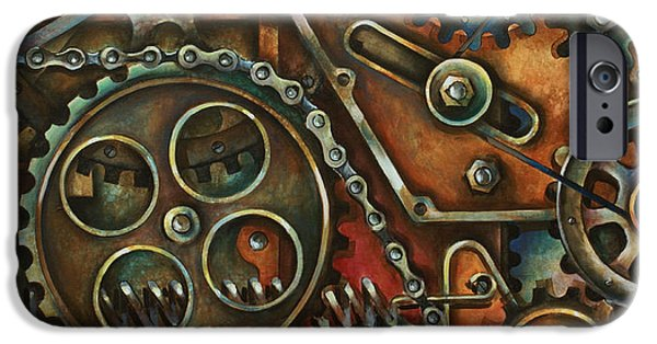 Machinery Paintings iPhone Cases - Harmony iPhone Case by Michael Lang